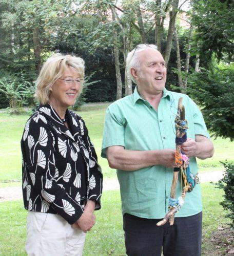 Bürgermeisterin Christiane Augsburger zusammen mit Peter Elzenheimer. Foto: Tulacek